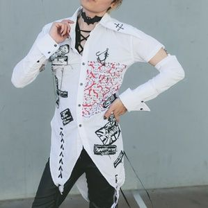 White Visual Kei Jrock Japan Punk Goth Rock Shirt